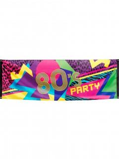 80er-Partybanner 74x220cm