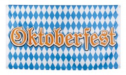 Oktoberfest-Fahne Oktoberfest-Flagge blau-weiss-braun 90x150cm