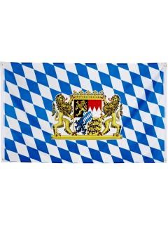Bayern-Banner Bayerische Fahne Oktoberfest-Deko blau-weiss-bunt 90 x 150cm