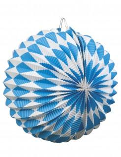Oktoberfest-Lampions Bayern-Deko 2 Stück blau-weiss 22cm