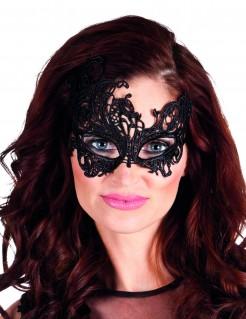 Venezianische Augenmaske mit Arabesken-Motiv schwarz