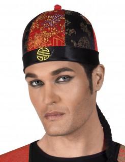 Chinesischer Hut mit Zöpfen