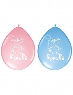 Peppa Wutz™ Luftballons Lizenzware 8 Stück blau-rosa