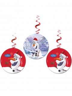 3 Olaf™ Weihnachts Deko-Aufhänger bunt