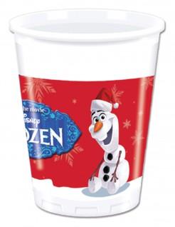 Olaf™ Weihnachts-Plastikbecher 8 Stück bunt