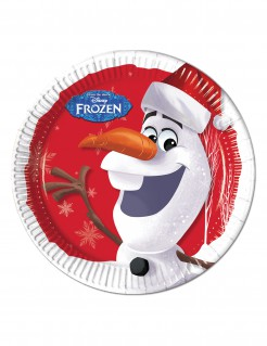 Frozen™-Teller Olaf-Motiv 8 Stück 23cm