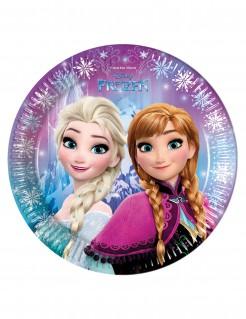 Frozen™-Teller Schneeflocken-Motiv 8 Stück 23cm