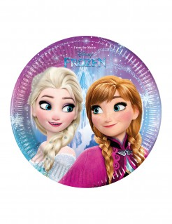 Frozen™-Teller Schneeflocken-Motiv 8 Stück 19,5cm