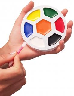 Fussball-Schminkpalette WM-Laenderschminke mit 7 Farben bunt