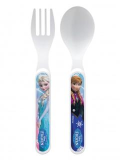 Frozen Die Eiskönigin™ Besteck-Set Disney™ Lizenzartikel 2-teilig weiss-bunt 13cm