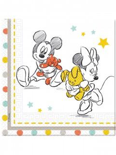 Disney Baby™ Papierservietten Mickey und Minnie Lizenzware 20 Stück 33x33cm