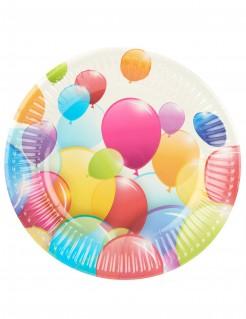 Party-Teller Luftballon-Pappteller 10 Stück bunt 19,5cm