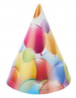 Partyhüte - Luftballons 6 Stück bunt