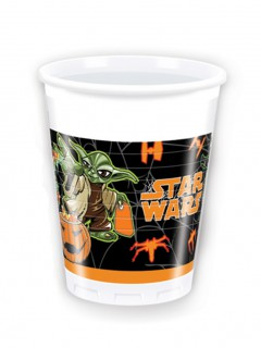 Star Wars Halloween Plastikbecher Party-Deko 8 Stück bunt 200ml