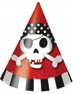 Piratenschatz-Partyhüte 6 Stück