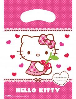 Hello Kitty™ Geschenktüten Kindergeburtstag 6 Stück pink-weiss