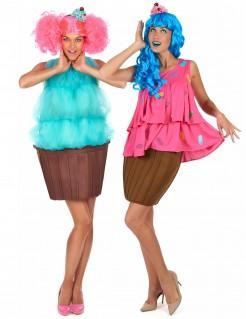 Cupcake Paarkostüm-Set für Freundinnen bunt