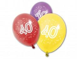 Geburtstags-Luftballons 40 Jahre 8 Stück