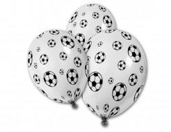 Fussball-Luftballons 5 Stück weiss-schwarz 36x30cm