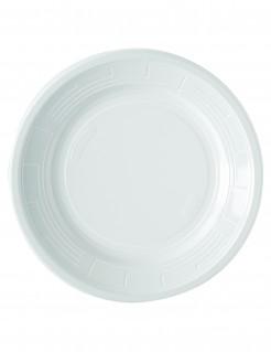 Partyteller Party-Tischdeko 50 Stück weiss 22cm