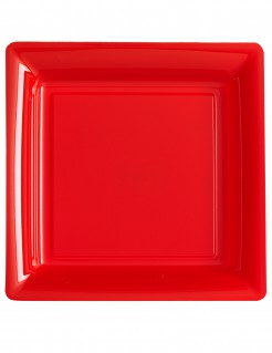 Partyteller 12 Stück rot 23.5cm
