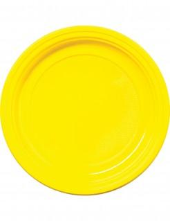 Kunststoff-Partyteller 30 Stück gelb 22cm