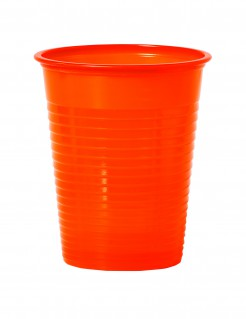 Party Becher Trink-Set 50 Stück orange 200ml
