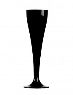 Champagnergläser 8 Stück schwarz 17,5 cm