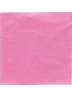 Papierservietten Party-Zubehör 50 Stück rosa 38x38cm