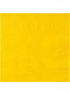 Papierservietten Party-Zubehör 50 Stück gelb 38x38cm