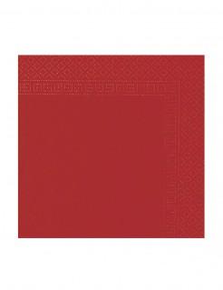 Papierservietten 50 Stück Valentinstag-Deko rot 38x38cm