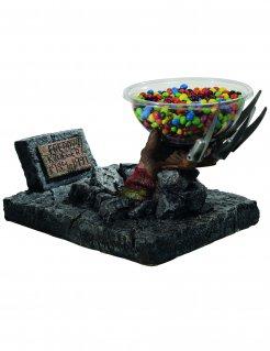 Freddy Krueger Handschuh Halloween-Süßigkeitenschale Nightmare on Elm Street Lizenzartikel bunt 34 x 46 x 30cm