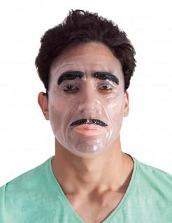 Bärtiger Mann Maske transparent-schwarz