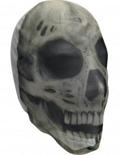 Skelett Halloween-Strumpfmaske weiss-schwarz