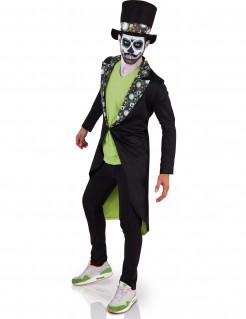 Dia de los Muertos Skelett-Gentleman Halloween-Herrenkostüm bunt