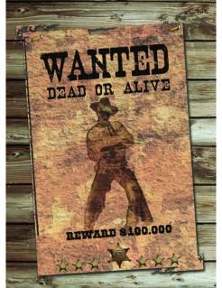 Wanted Suchplakat Western Wanddeko