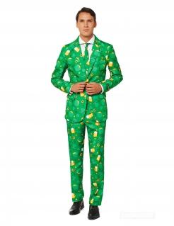 Suitmeister™ Kleeblatt Herrenanzug grün