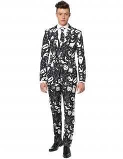Halloween-Suitmeister Anzug schwarz-weiss