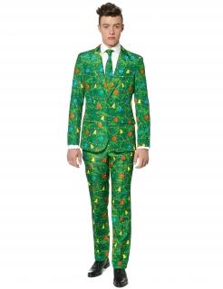 Suitmeister Anzug Weihnachten Herrenkostüm grün-bunt