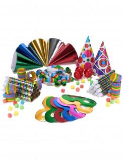 Farbenfrohes Partyaccessoire-Set für 10 Personen bunt