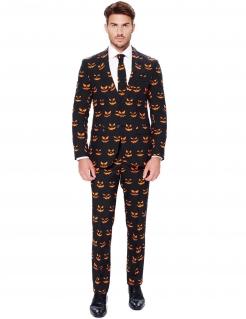 Kürbis Halloween-Opposuit Anzug schwarz-orange