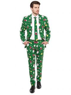 Opposuits Weihnachtsanzug Weihnachtsoutfit grün-bunt