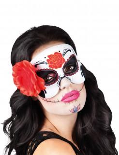 Sugar Skull Augenmaske Tag der Toten für Damen bunt