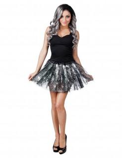 Spinnennetz-Tutu Halloween-Kostümzubehör Petticoat schwarz-weiss