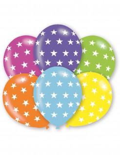 Stern-Luftballons Partyballons 6 Stück bunt 28cm