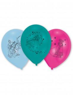 Luftballons Lizenzartikel Die Eiskönigin 6 Stück pink-blau