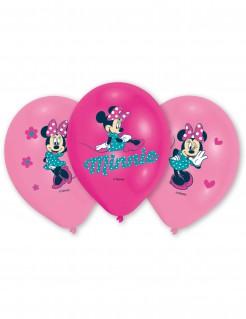 Luftballons Lizenzartikel Minnie Mouse 6 Stück pink