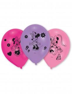Luftballons Lizenzartikel Minnie Mouse 10 Stück lila-pink