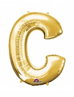 Aluminium-Ballon Buchstabe C gold 33cm