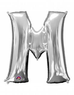 Aluminium-Ballon Buchstabe M silber 27x33cm